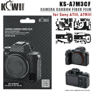 KIWIFOTOS KS-A7M3CF Camera Carbon Fiber Film with Wet Cleaning Wipe for Sony A7 III, A7R III