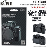 KIWIFOTOS KS-XT3CF Camera Carbon Fiber Film with Wet Cleaning Wipe for Fujifilm X-T3