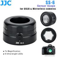 JJC SS-6 Sensor Scope / Loupe for DSLR & mirrorless camera ( 7x magnification , 6 ultra-bright LEDs)