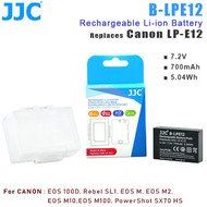 JJC B-LPE12 Rechargeable Li-ion Battery for Canon LP-E12 (Replaces, 7.2V , 700mAh ,5.04Wh )