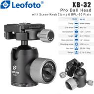 Leofoto XB-32 Pro Ball Head with Screw Knob Clamp & BPL-50 Plate (Max Load 15kg)