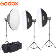 Godox  2 x MS200 + 1 x MS300 Compact Studio Lighting Kit (200Ws & 300Ws , 5600K)