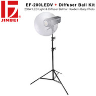 Jinbei EF-200LEDV 200W Video/ Photo LED Light & Diffuser Ball Kit (Newborn, Baby Photo ,5500K, 23000Lm) * Start from $475*