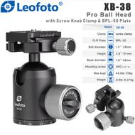 Leofoto XB-38 Pro Ball Head with Screw Knob Clamp & BPL-50 Plate (Max Load 20kg)