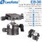Leofoto EB-36 Low Profile Ball Head with Screw Clamp & NP-50S Plate (Max Load 10kg, Height 75mm)