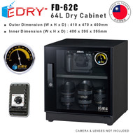 EDRY 64L Dry Cabinet FD-62C ( Made in Taiwan , 470 x 400 x 410mm)