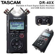 Tascam DR-40X Portable Four-Track Digital Audio Recorder and USB Audio Interface (Adjustable , 4 channel)