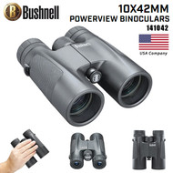 Bushnell 10 x 42 mm Powerview Binocular (Black ,Standard) 141042