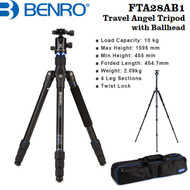 Benro FTA28AB1 Aluminum Travel Angel Tripod with B1 Ballhead (Max Load 10kg , 4 section , Twist Lock)