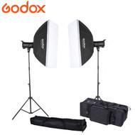 Godox 2x QT600II 600Ws  Strobe High Speed Sync Studio Flash Lighting Kit