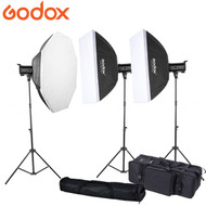 Godox 2x QT400II + 1x QT600II  Strobe High Speed Sync Studio Flash Lighting Kit (400Ws & 600Ws)