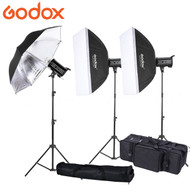 Godox 3x QT400II 400Ws  Strobe High Speed Sync Studio Flash Lighting Kit