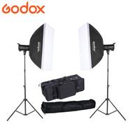 Godox 2x QT400II  400Ws Strobe High Speed Sync Studio Flash Lighting Kit