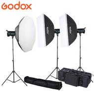 Godox 2x QS400II + 1x QS600II Studio Flash Lighting Kit (400Ws & 600Ws)