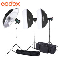 Godox 3x QS400II 400Ws Studio Flash Lighting Kit