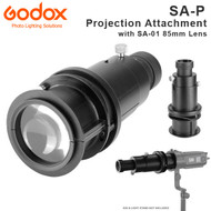 Godox SA-P Projection Attachment with SA-01 85mm Lens for S30 Focusing LED Light