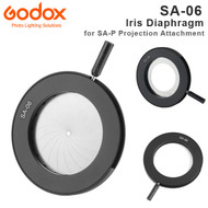 Godox SA-06 Iris Diaphragm for SA-P Projection Attachment (S30 Focusing LED Light ,Slot)