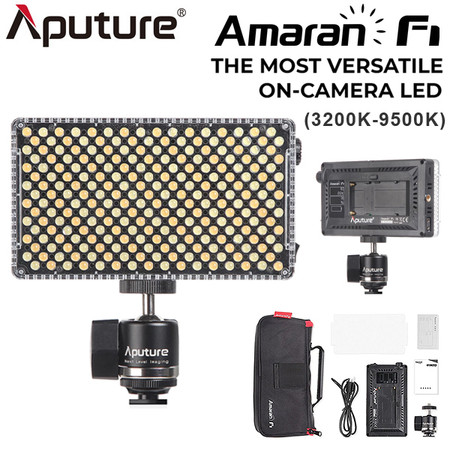 Aputure Amaran AL-F7 15W on-camera Variable Color LED Light (3200K-9500K , 45° Beam Angle)