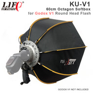 Lifefoto KU-V1 60cm Octagon Softbox with GRID & V1 Holder for Godox V1