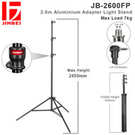 Jinbei JB-2600FP 2.6m Aluminium Adapter Light Stand (Max Load 7kg , Air Cushioned , Enhanced Lock )