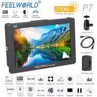 Feelworld P7 7'' 4K HDMI 2200nit Daylight Viewable Camera Field Monitor ( 1920 x 1200 pixels , Aluminum Design, Input & Output)