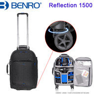 "Benro Reflection 1500 Camera Trolley Case (Black , 380 x 270 x 560 mm , Up to 13"" Laptop, 360° Rotation Wheels)"