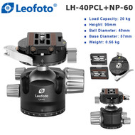 Leofoto LH-40PCL+NP-60 Low Profile Ball Head with Panning Clamp & NP-60 Plate (Max Load 20kg , Height 95mm , 360° Panorama)