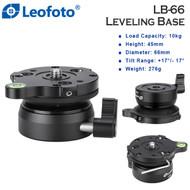 Leofoto LB-66 Leveling Base (Max Load 10 kg, Half Ball , Tilt Range -17° / +17° )