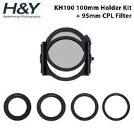 H&Y Filter KH100 100mm K-Series Magnetic Square Filter Holder Kit + 95mm HD MRC CPL Filter (German Imported Schott Glass)
