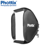 Phottix 80 x 80cm Transfolder Softbox + Cerberus Multi Mount Holder Kit *CLEARANCE SALE*