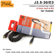 Pixel J3.5-30/E3 Camera Connecting Cable 3.5mm Jack to E3 for Canon 1100D , 1000D , 600D (30cm)