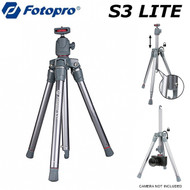 Fotopro S3 lite-R  Lightweight Standard Tripod with Ball Head & Center Column (Grey & Red,  Max load 2.5kg , 4 Section)
