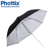 "Phottix 91cm (36"") Double-Small Folding Reflective Umbrella (Black & Silver) #853411  *CLEARANCE SALE*"