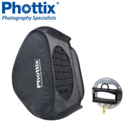 Phottix 60 x 60 cm Transfolder Softbox Deluxe with Round Mask  , Grid & Cerberus Mount #825258 *CLEARANCE SALE*