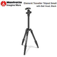 Manfrotto MKELES5BK-BH Element Traveller Small Tripod with Ball Head (Black , Max Load 4kg )
