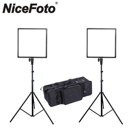 Nicefoto SL-500A Video LED Lighting Kit 3200-5500K (2 Lights)