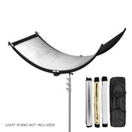 Fotolux CR-3C Curved Portrait Reflector 150 x 60 cm (Silver + Gold + White)