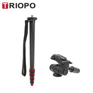 Triopo DV-27+HY-250 Aluminium Video Monopod with 2-way Head (Max load 5 kg , 5 Section)