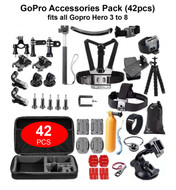 Fotolux GP-SP GoPro Accessories Pack (42pcs) for GoPro 3 , 4 ,5 , 6 , 7 , 8
