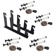 Fotolux 4-Hook Background Support Rack + Expand Core Grip with Metal Chain Kit