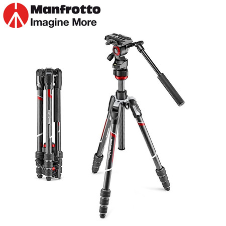 Manfrotto MVKBFRTC-LIVE Befree live Video Carbon Fibre Twist Tripod with Lever Head