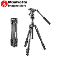 Manfrotto MVKBFRL-LIVE Befree live Video Aluminium Tripod with Lever Head (Max Load 4kg , Flip Lock)