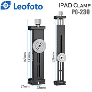 Leofoto PC-230 iPad Clamp (Max Load 8 kg , Clip Range 138-230mm , Acra swiss)