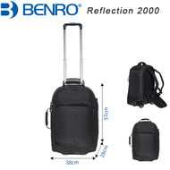 "Benro Reflection 2000 Camera Trolley Case (Black , 380 x 280 x 570 mm , Up to 13"" Laptop)"
