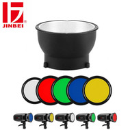 Jinbei 14cm Magnetic Reflector with 5 Colour Gel Filters