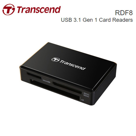 Transcend RDF8 USB 3.1 Gen 1 Card Reader (Black)