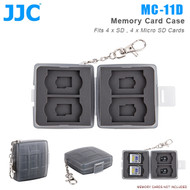 JJC MC-11D Memory Card Case for 4 x SD , 4 x Micro SD Cards