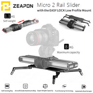 Zeapon Micro 2 Ultra Smooth Portable Slider + Easy Lock 2 Low Profile Mount (Max. Load 8kg , Rail Length 33cm , Running Length 54cm)