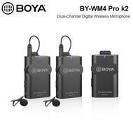 BOYA BY-WM4 Pro K2 Dual-Channel Digital Wireless Lavalier / Lapel Microphone for Smartphone , DSLR (2.4 GHz ,Up to 60m)
