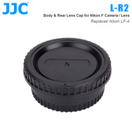 JJC L-R2 Body & Rear Lens Cap for Nikon F Camera / Lens (Replaces Nikon LF-4)
